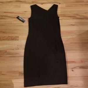 Dkny Dresses - NEW! DKNY Black Asymmetrical Midi Dress